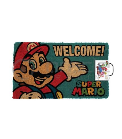 Super Mario Doormat - Welcome