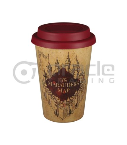 Harry Potter Eco Travel Mug - Marauders Map (Rice Husk)