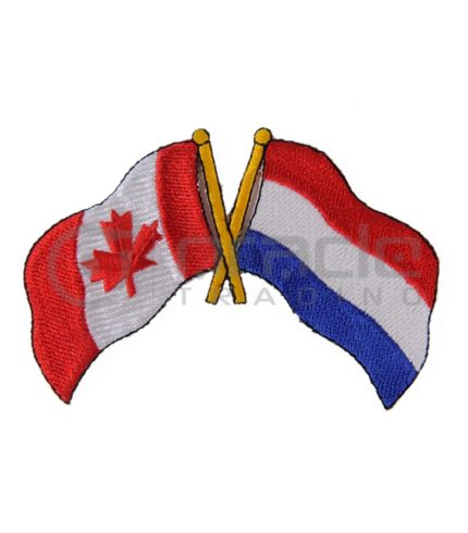Netherlands / Canada Friendship Iron-on Patch (Holland)
