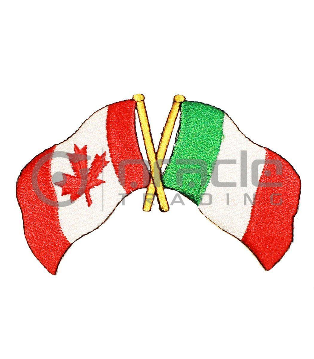 Italia / Canada Friendship Iron-on Patch