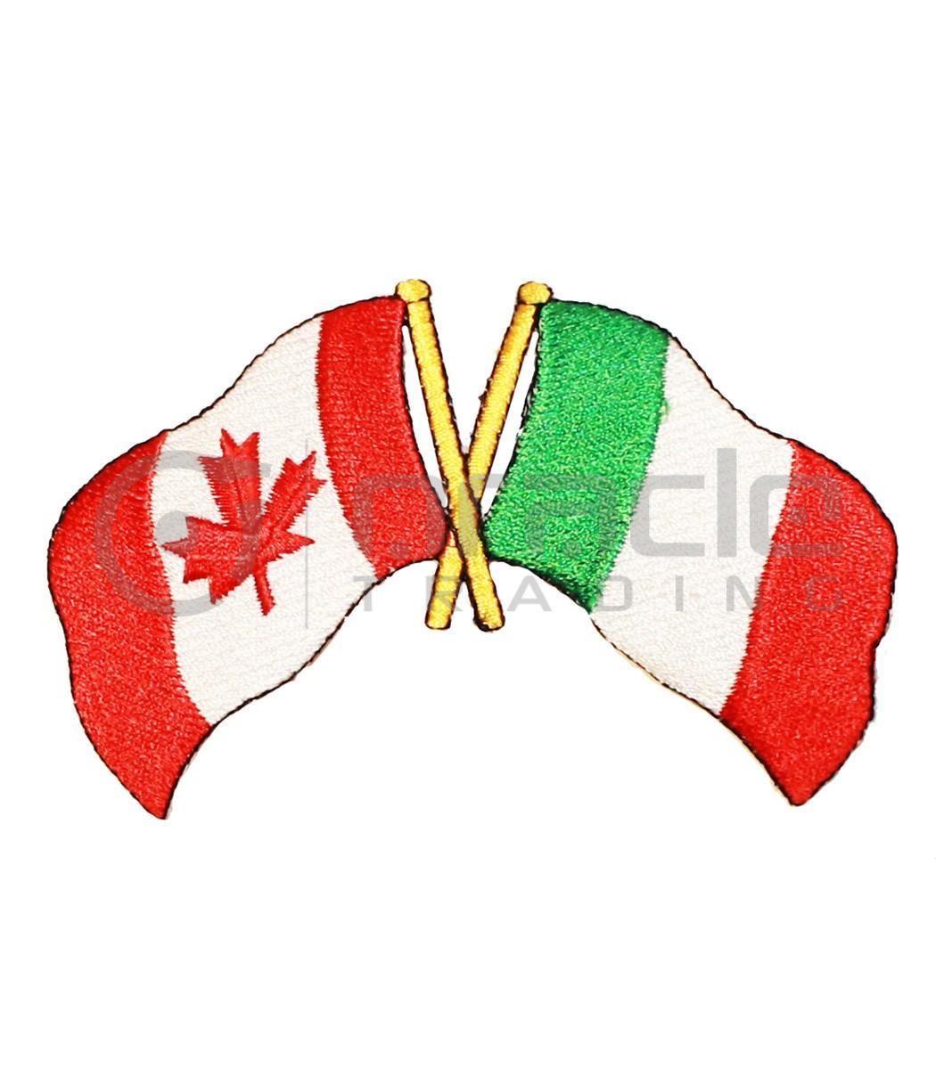 Italia / Canada Friendship Iron-on Patch