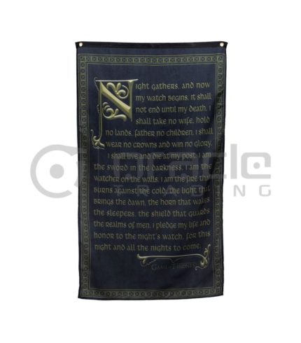 Game of Thrones Night's Watch Indoor Banner