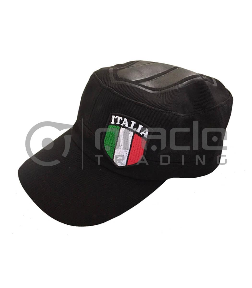 Italia Flex-Fit Army Hat (Black)