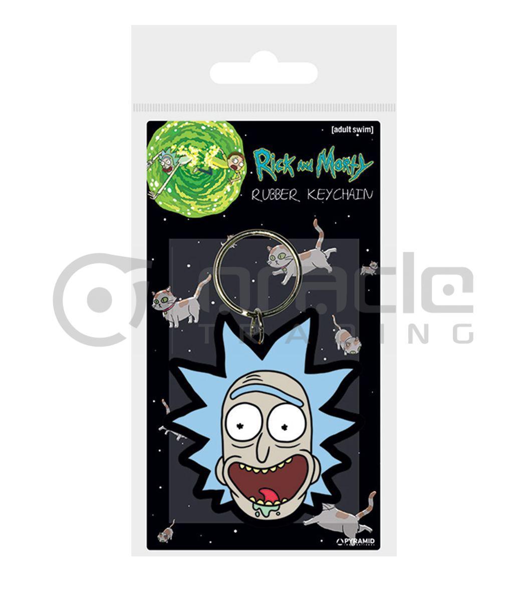 Rick & Morty Keychain (Rick Crazy Smile)