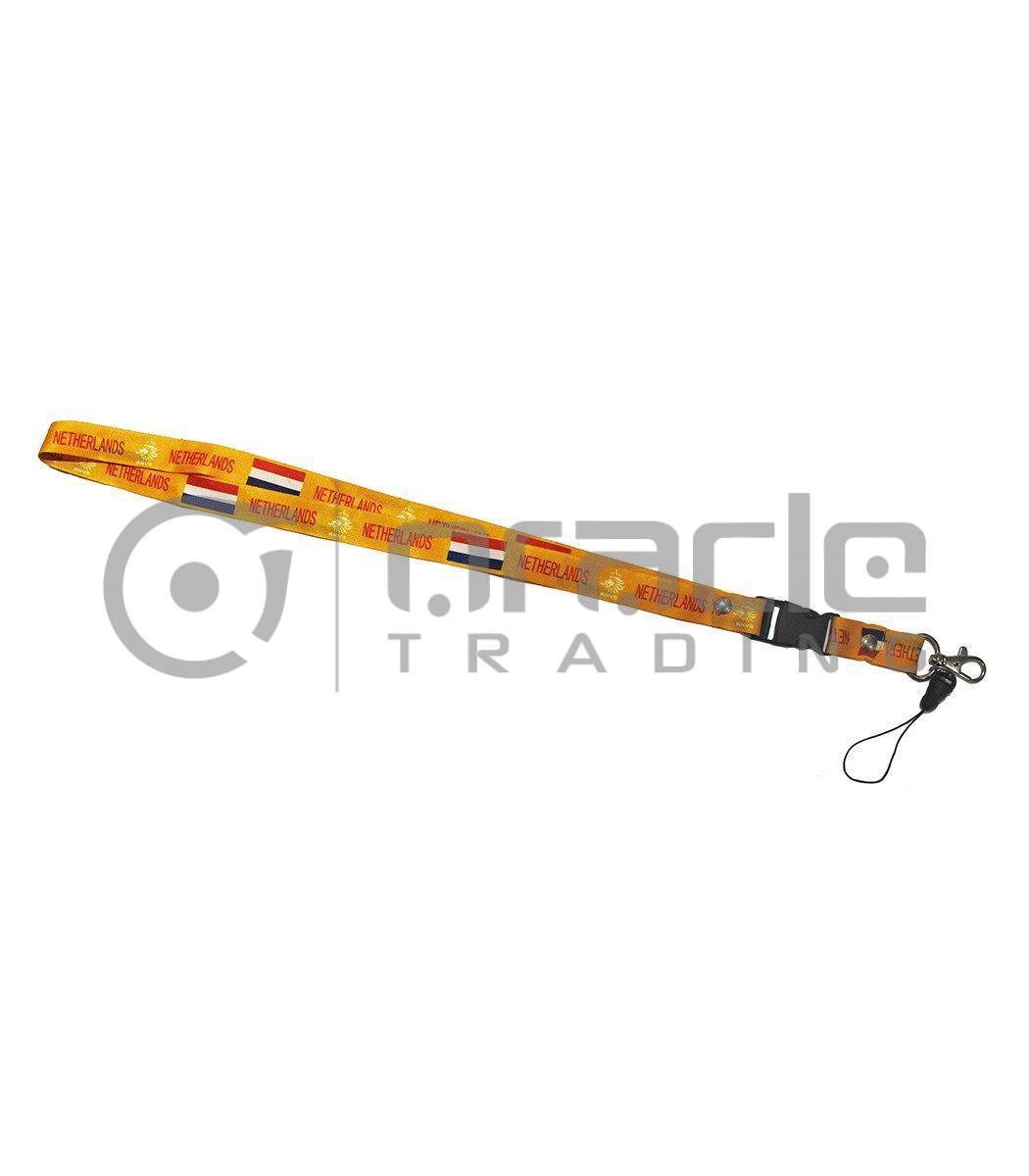 Holland Lanyard Keychain 12-Pack - Orange