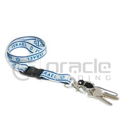 Israel Lanyard Keychain 12-Pack
