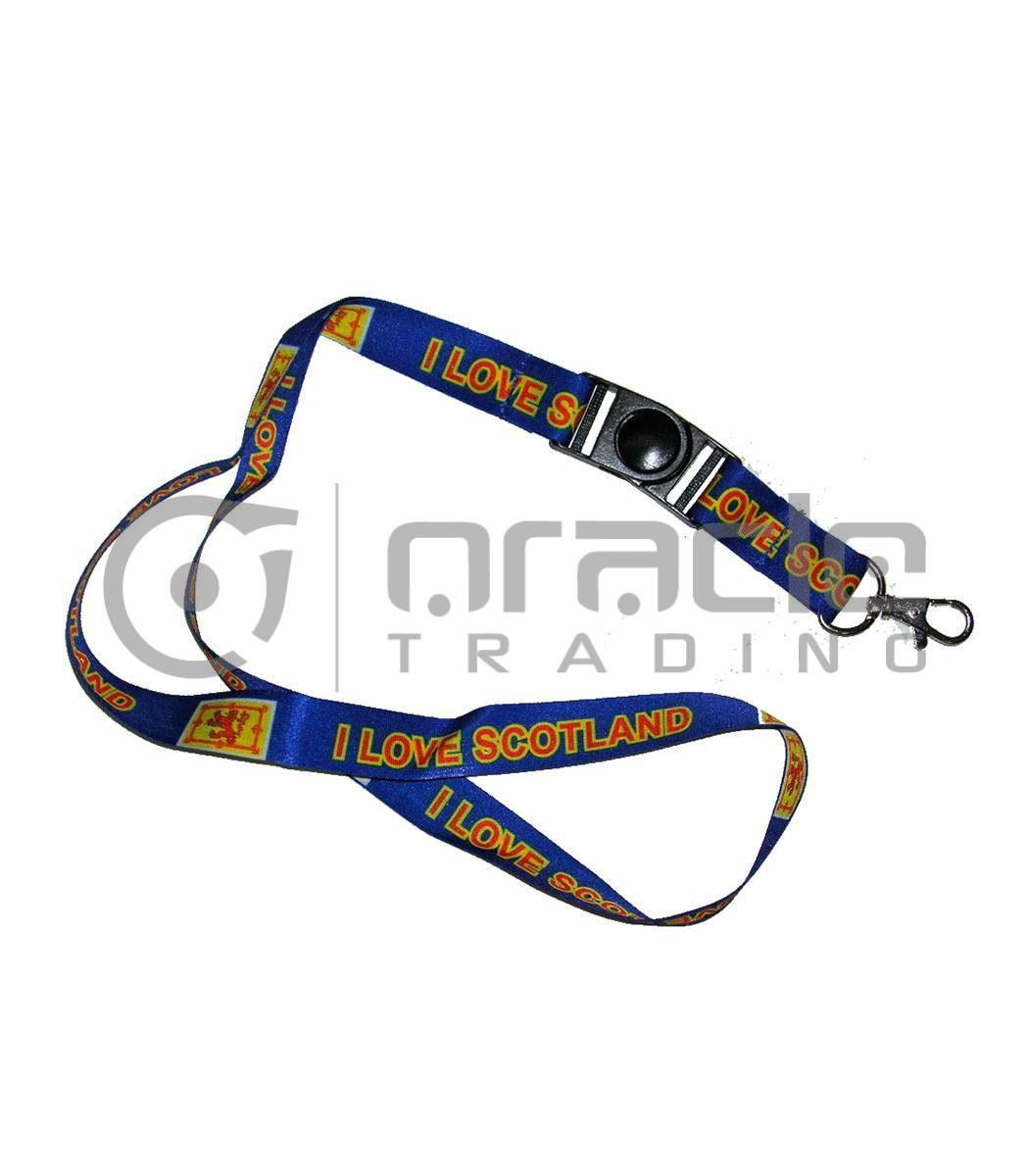 Scotland Lanyard Keychain 12-Pack (Rampant Lion)
