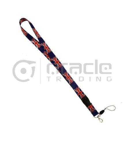 UK Lanyard Keychain 12-Pack