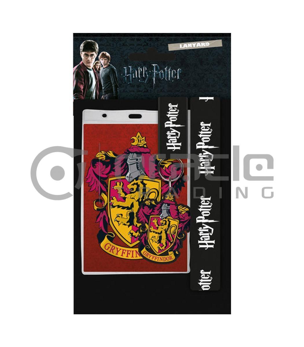 Harry Potter Gryffindor Lanyard & Keychain Set