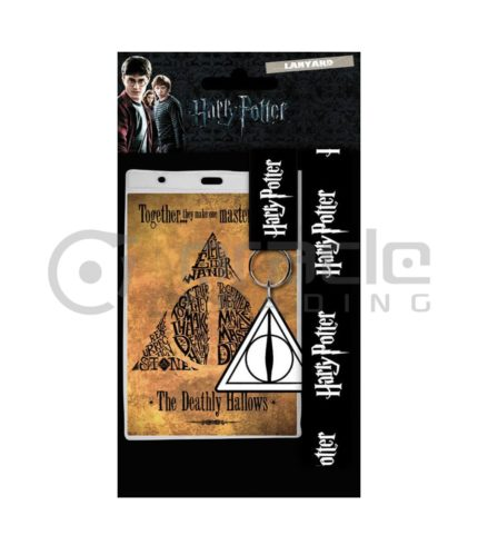 Harry Potter Deathly Hallows Lanyard & Keychain Set