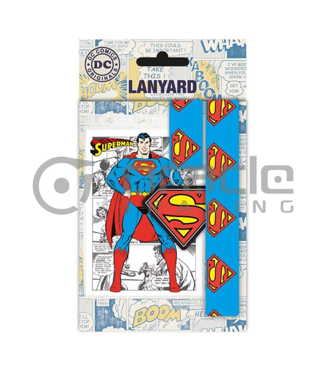 Superman Lanyard & Keyring Set