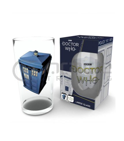 Doctor Who Large Glass - Tardis