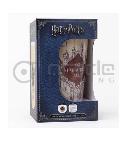 Harry Potter Marauders Map Large Glass - Premium Coloured