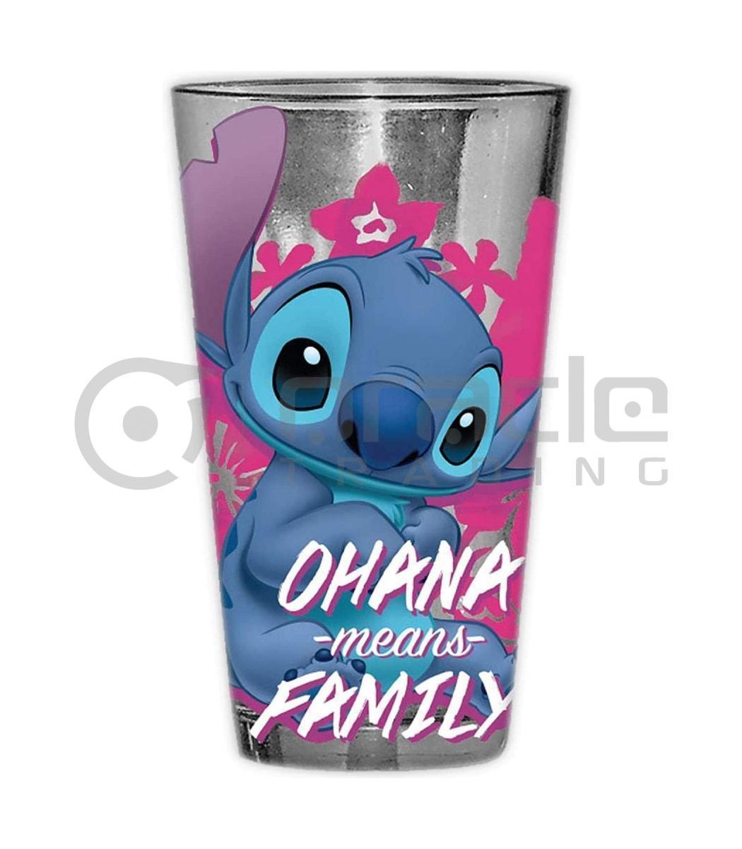 Lilo & Stitch Large Glass - Ohana Means Family