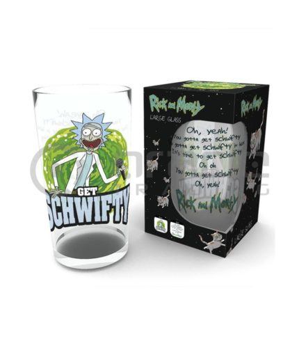 Rick & Morty Large Glass - Get Schwifty