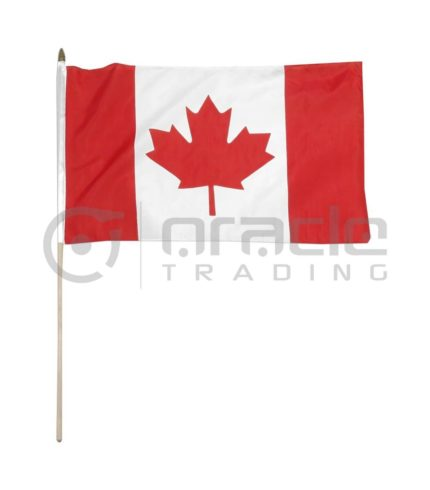 "Canada Large Stick Flag - 12""x18"" - 12-Pack"