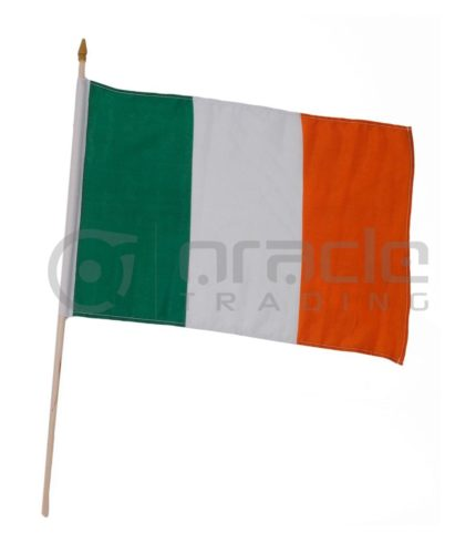 "Ireland Large Stick Flag - 12""x18"" - 12-Pack"