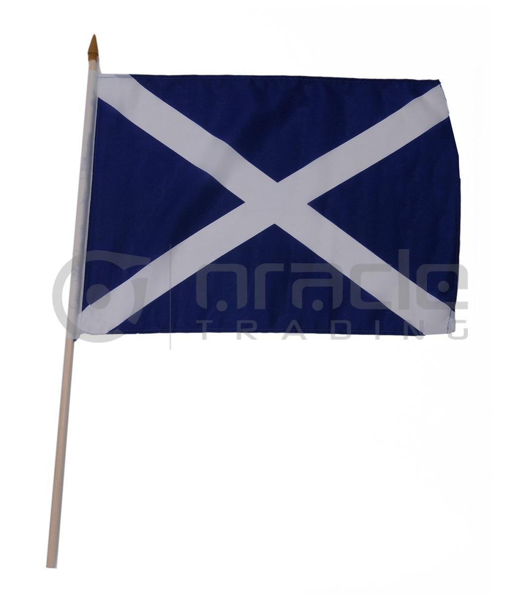 "Scotland Large Stick Flag - 12""x18"" - 12-Pack (St. Andrew's Cross)"