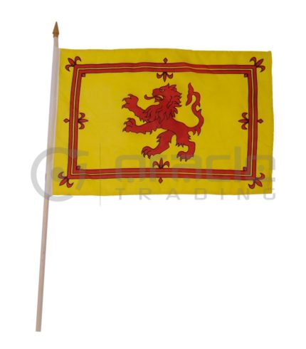 "Scotland Large Stick Flag - 12""x18"" - 12-Pack (Rampant Lion)"