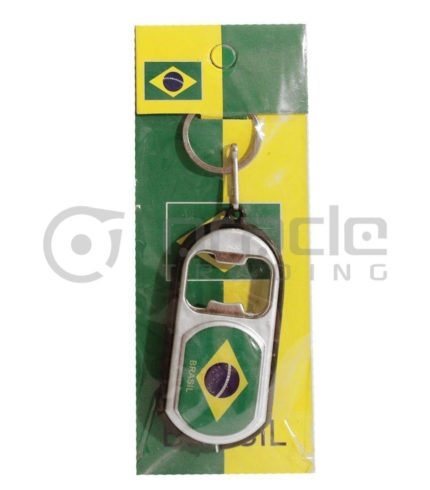Brazil Flashlight Bottle Opener Keychain 12-Pack