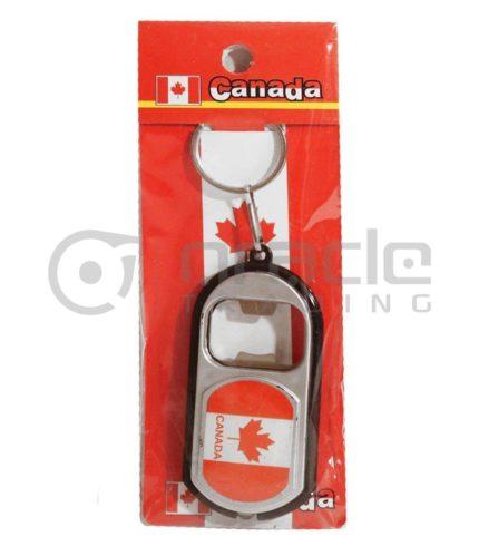Canada Flashlight Bottle Opener Keychain 12-Pack