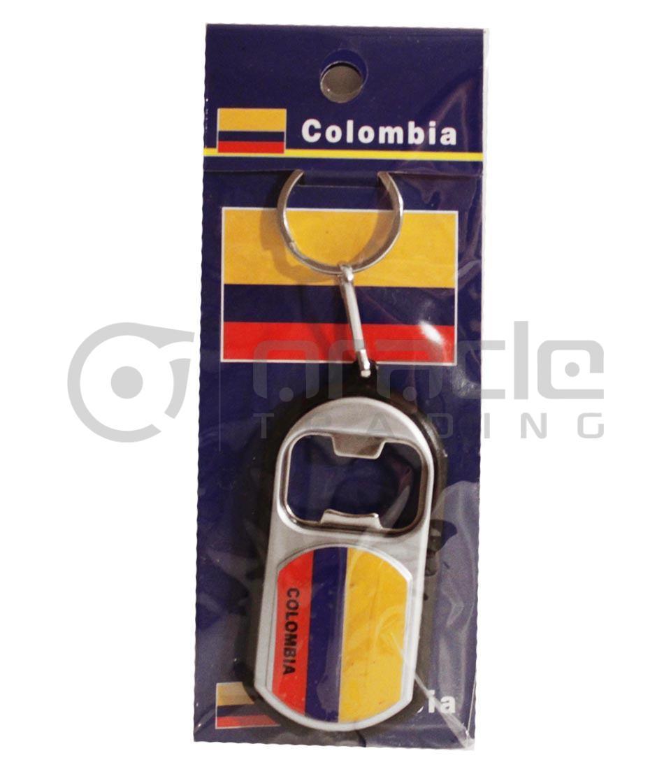Colombia Flashlight Bottle Opener Keychain 12-Pack