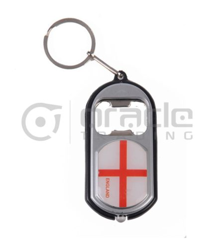 England Flashlight Bottle Opener Keychain 12-Pack