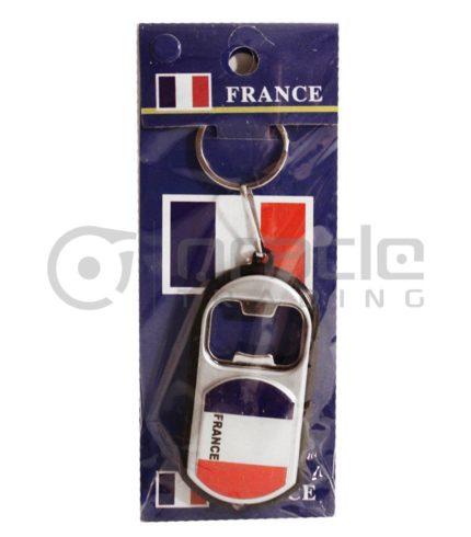 France Flashlight Bottle Opener Keychain 12-Pack