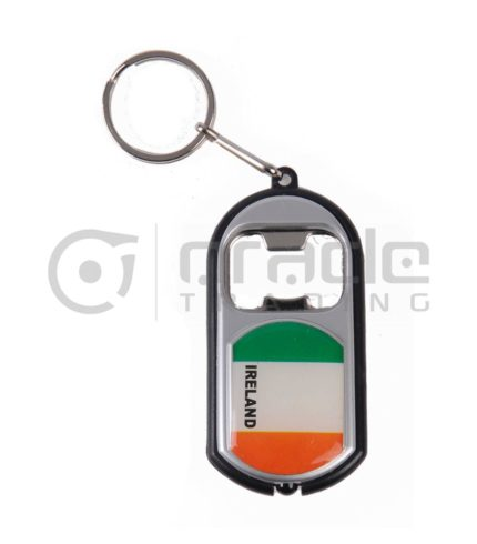 Ireland Flashlight Bottle Opener Keychain 12-Pack