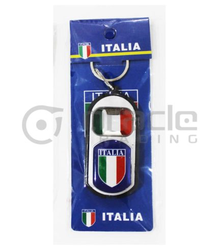 Italia Flashlight Bottle Opener Keychain 12-Pack