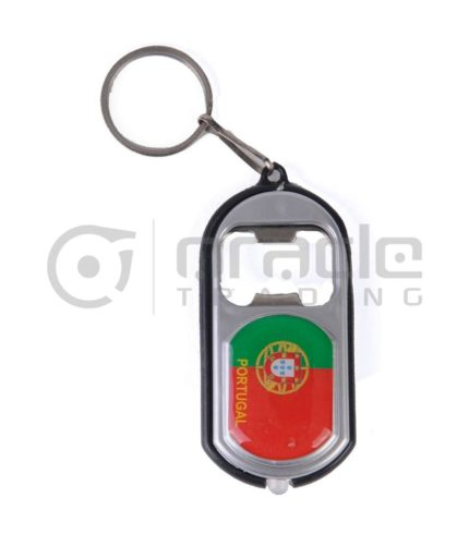 Portugal Flashlight Bottle Opener Keychain 12-Pack
