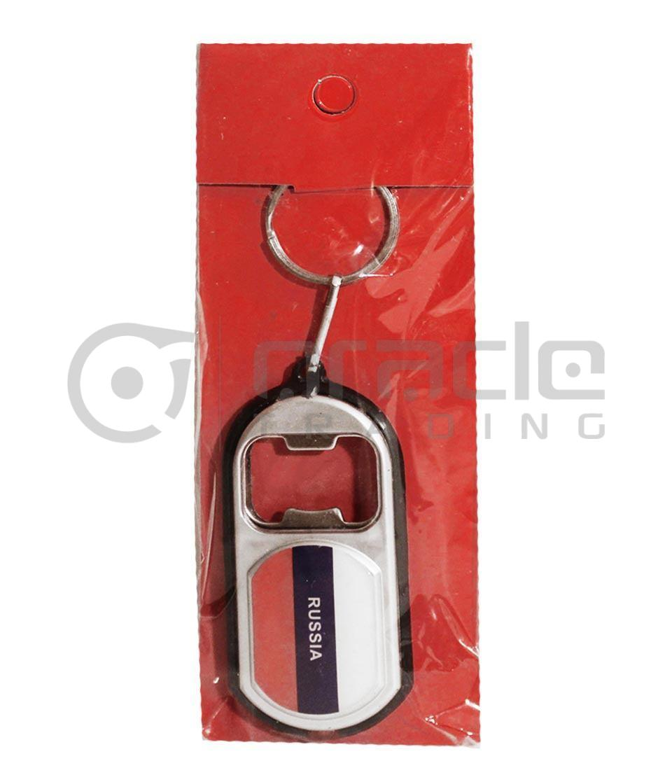 Russia Flashlight Bottle Opener Keychain 12-Pack