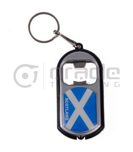 Scotland Flashlight Bottle Opener Keychain 12-Pack