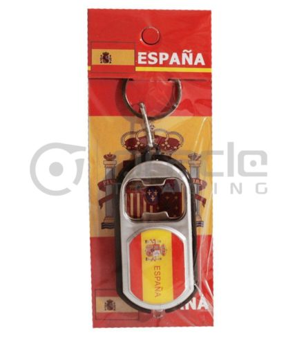 Spain Flashlight Bottle Opener Keychain 12-Pack