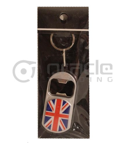 UK Flashlight Bottle Opener Keychain 12-Pack