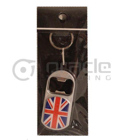 UK Flashlight Bottle Opener Keychain 12-Pack