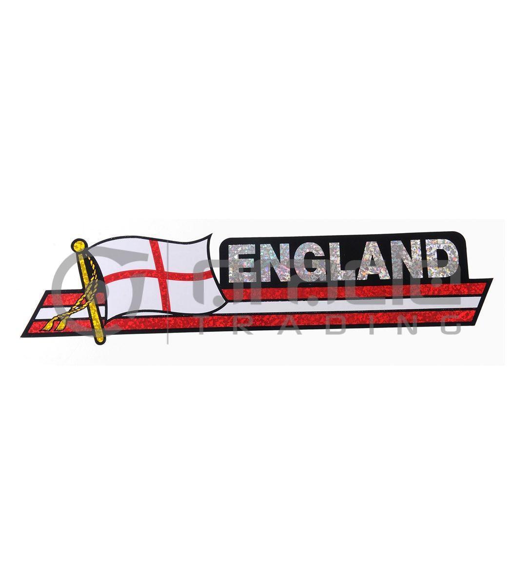England Long Bumper Sticker