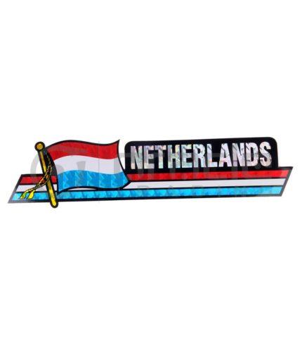 Netherlands Long Bumper Sticker (Holland)