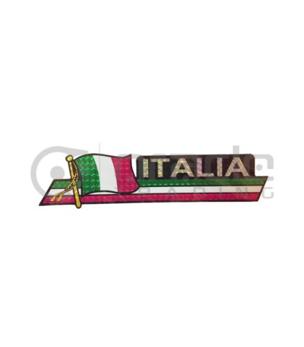 Italia Long Bumper Sticker
