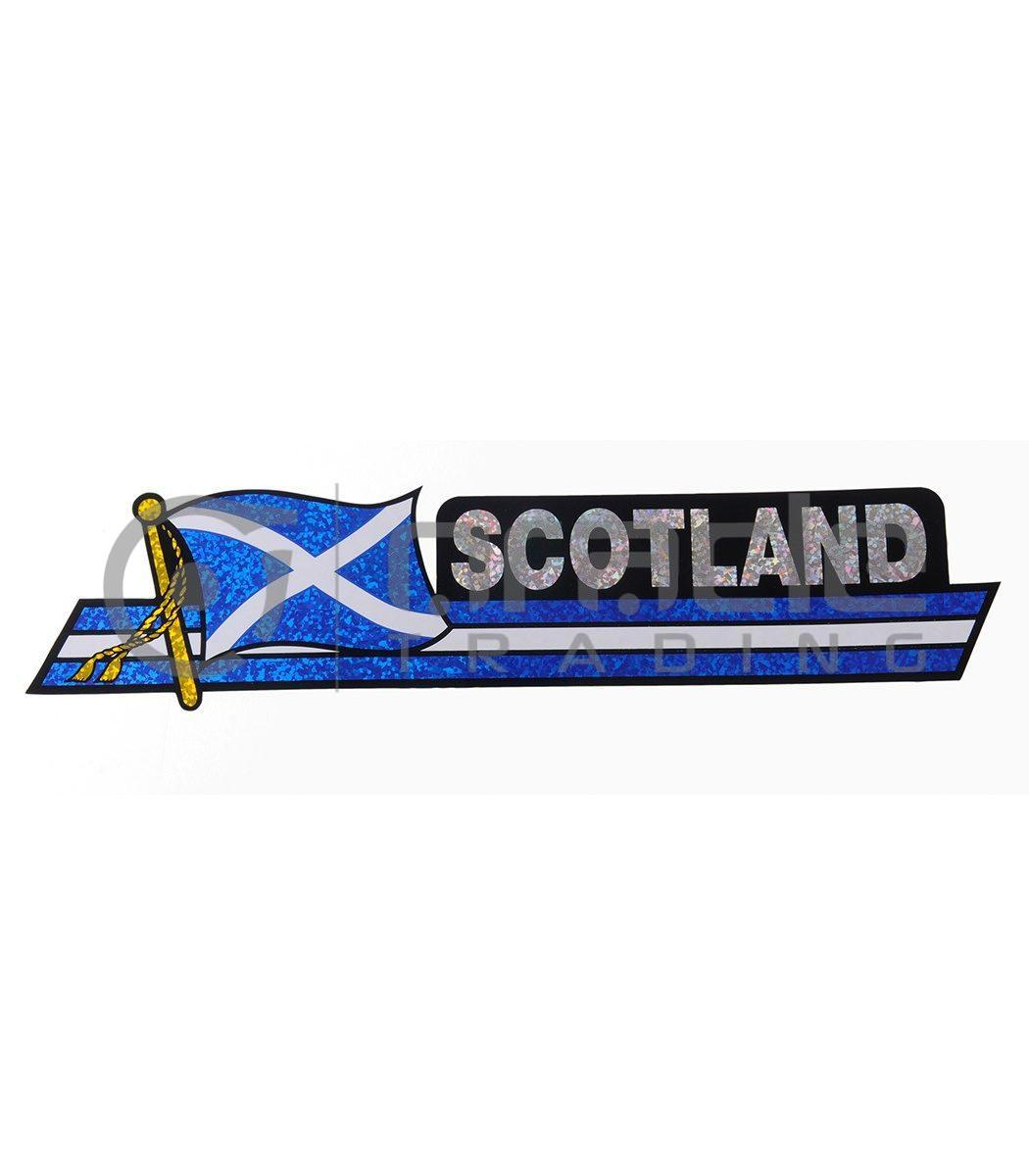 Scotland Long Bumper Sticker (St. Andrew's Cross)