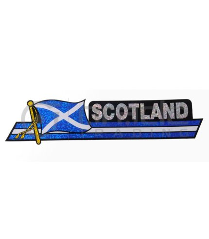Scotland Long Bumper Sticker (St. Andrew's Cross)