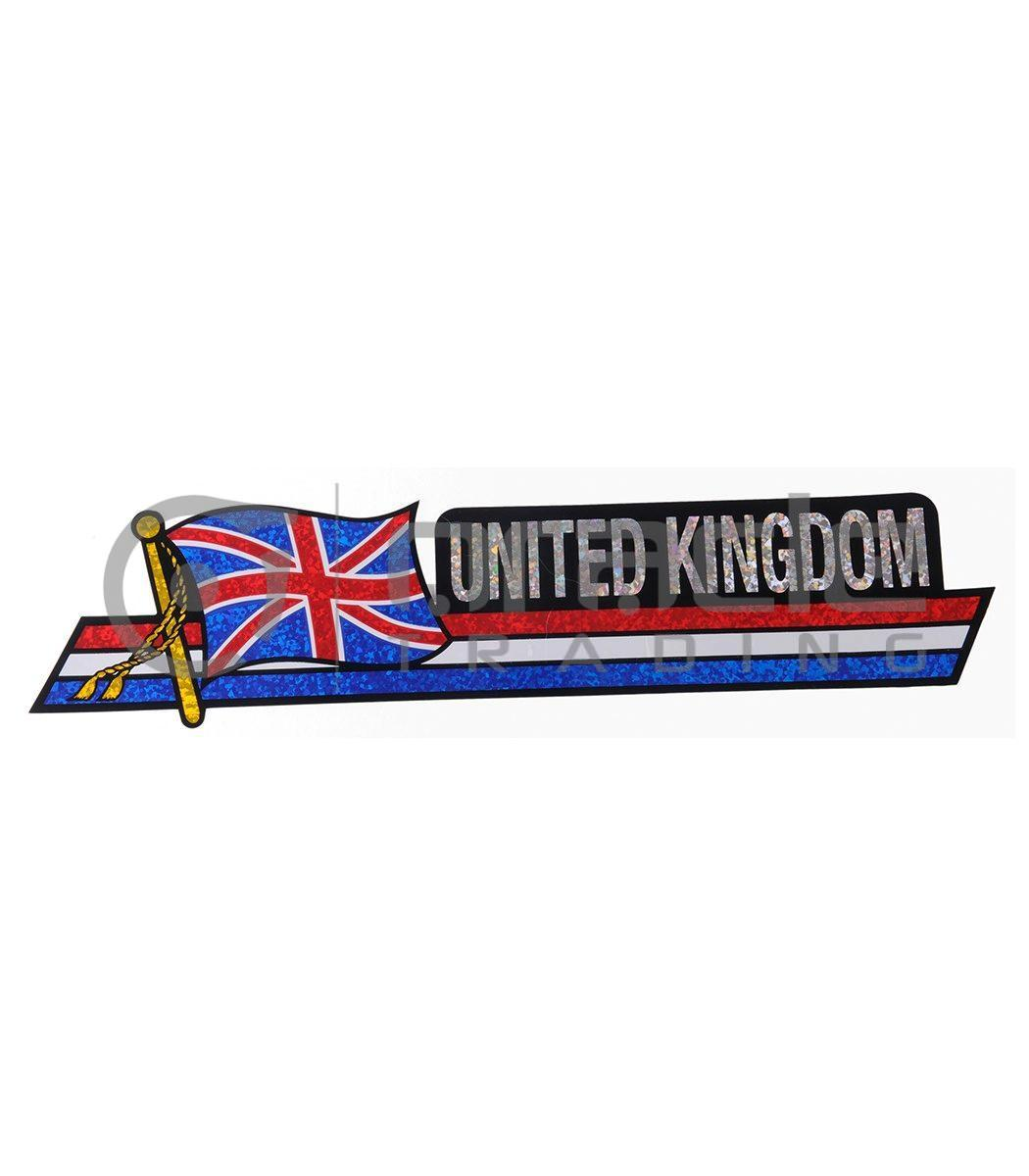 UK Long Bumper Sticker (United Kingdom)