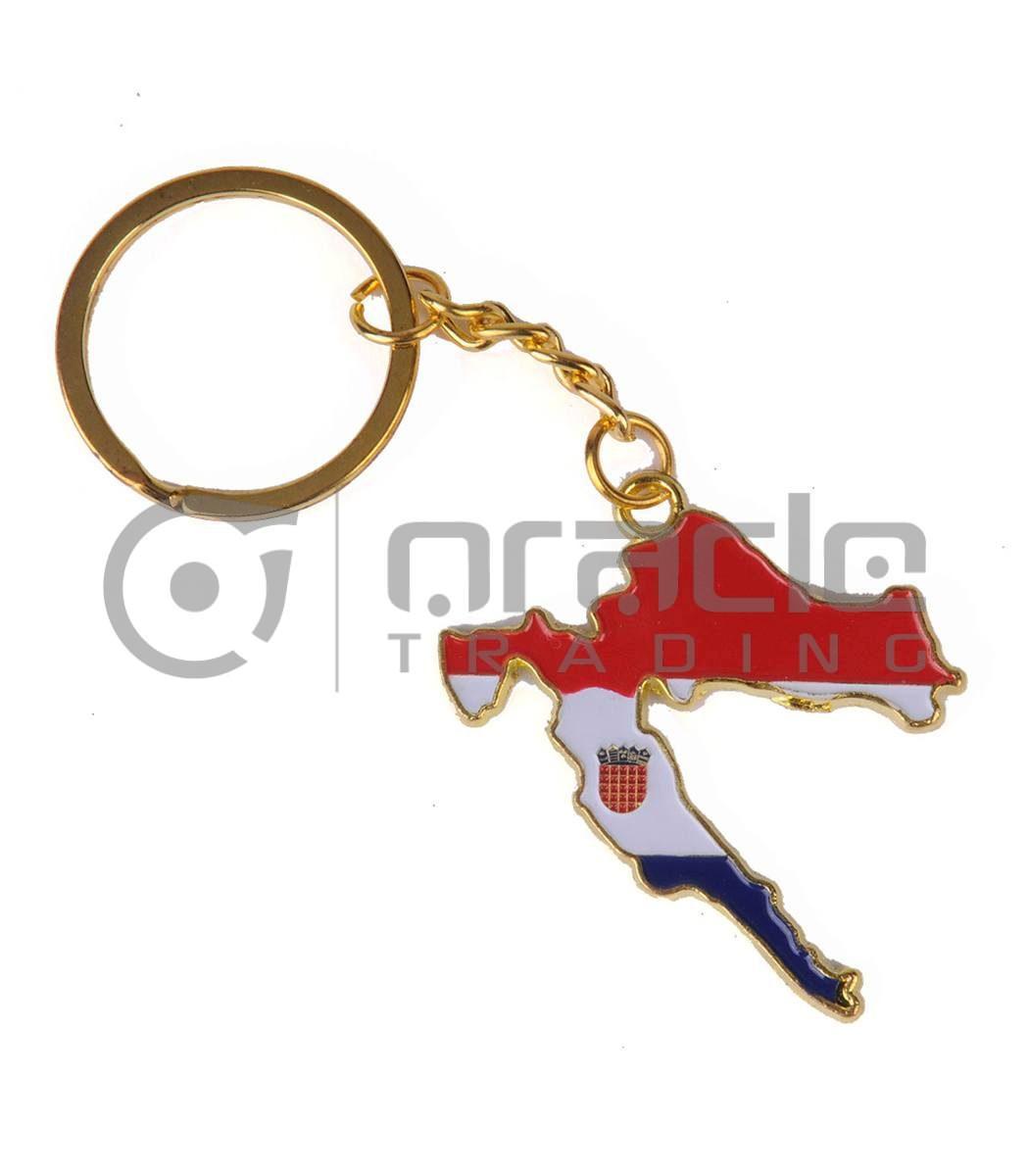 Croatia Map Keychain 12-Pack