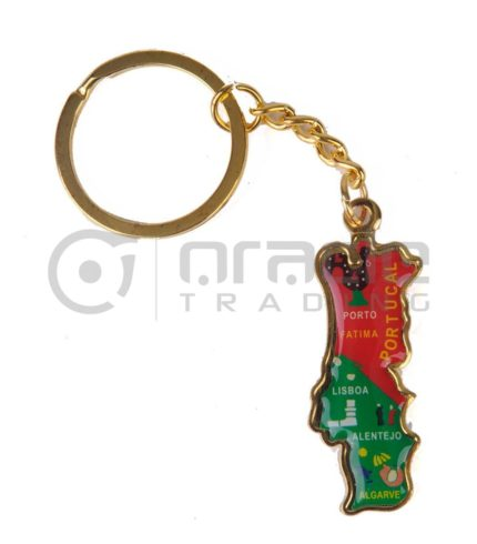 Portugal Map Keychain 12-Pack
