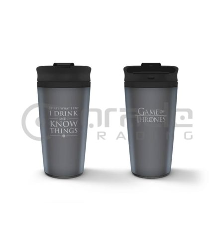I Drink & I Know Things Metal Travel Mug (Game of Thrones)