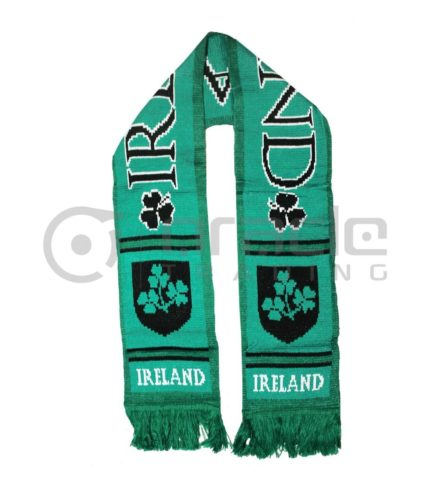 Ireland Black & Green Scarf