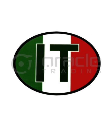 Italia Oval Decal - Flag
