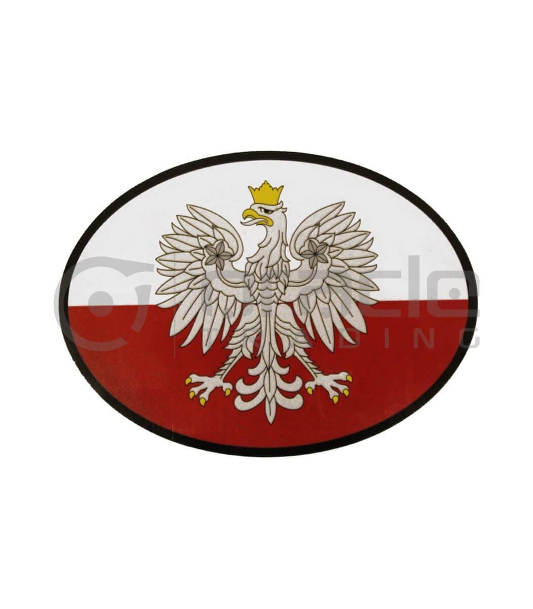 Poland Oval Decal - Eagle