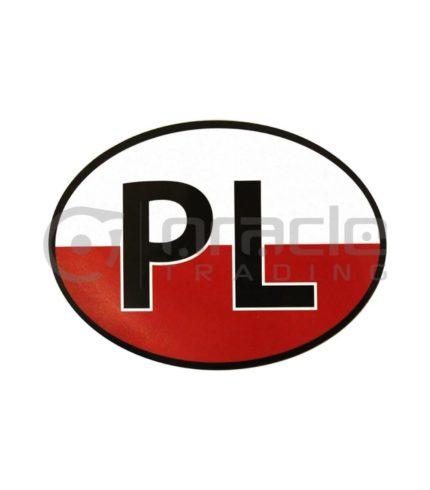Poland Oval Decal - PL