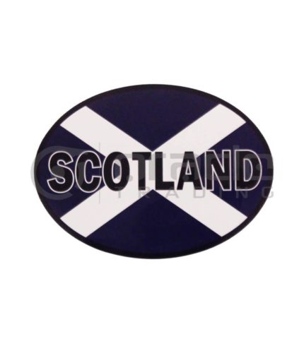 Scotland Oval Decal - Name